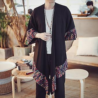 Japansk Kimono Cardigan Jakke Menn