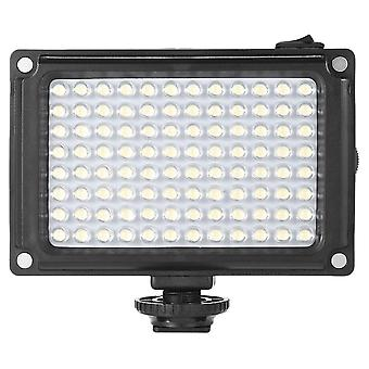 Mini portable on-camera led video fill-in light panel with white orange filters for dslr camera