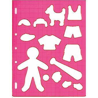 Fiskars Shape Cutter Template - Playtime Boy