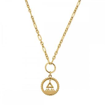 ChloBo Sterling Silver Gold Plated Fire Pendant Necklace GN3161