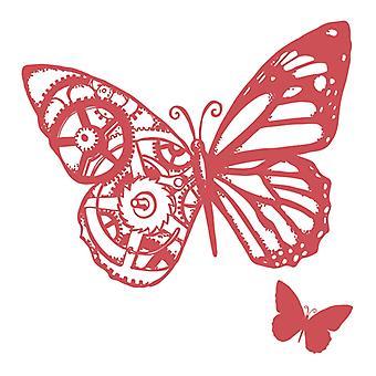 Couture Creations Stamp Set - Växlar och fjärilar - 2st