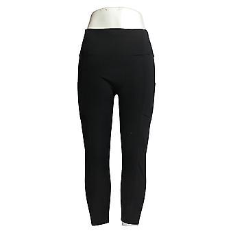 Zuda Petite Leggings Z-Stretch Momentum Pocket Pull On Black A376138