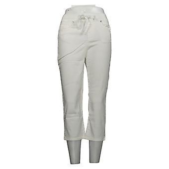Martha Stewart Mujeres's Jeans Punto Denim Pull-On Capri Blanco A387168