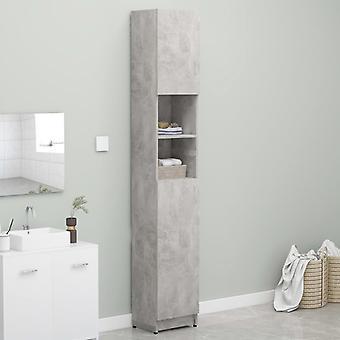 vidaXL Bathroom cabinet concrete grey 32×25.5×190 cm chipboard