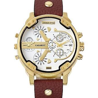 Waterproof Dual Time Displays Watch