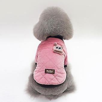 Dog cat clothes winter clothing cotton-padded coat teddy jacket vest