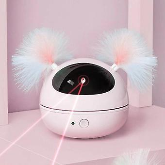 التفاعلية ليزر القط لعبة ليزر التلقائي مؤشر تدوير القطط اللعب الإلكترونية (الوردي)