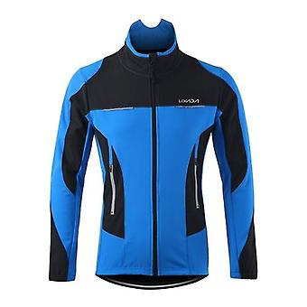 Men's Outdoor Cycling Jacket Winter Thermal Breathable Comfortable Long Sleeve Coat Water Resistant Riding Sportswear