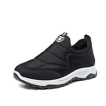 Winter Casual Black Flats Slip Mesh Sneakers