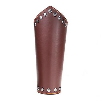 1pc Armband Leather Punk Wide Archery Arm Guard Viking Bracer