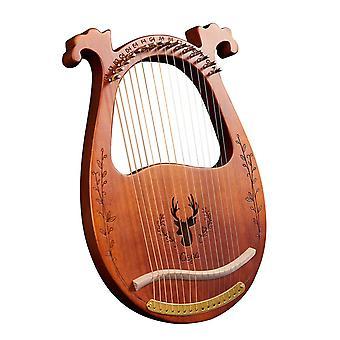 16-String деревянный лира арфы резонансный ящик струнный инструмент с тюнинг гаечным ключом 3pcs выбирает