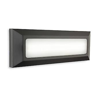 Parete integrata led esterna Montata su parete e rettangolo di luce passo grafite IP65