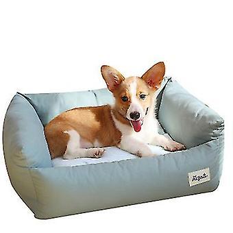 S grønn kjæledyr myk liten hund bedrectangle bomull hund seng for små hunder x5237