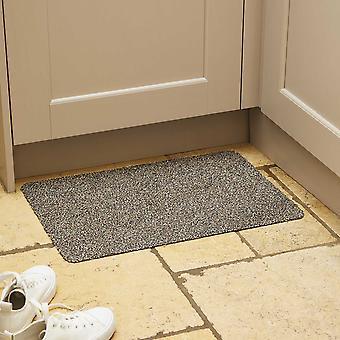 Washable Cotton-Rich Doormat In Granite Grey