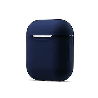 Dark Blue Shockproof Soft Silicone Case For Your Apple Airpods