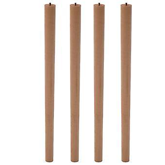 Ensemble de 4 meubles en bois jambes rondes, naturel