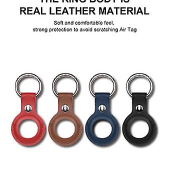 Apple AirTag Kožená kľúčenka Modrá - Airtag Ochranné puzdro - Apple Airtag Case - Silikónové puzdro airtag