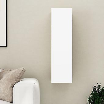 vidaXL tv armoire blanc et chêne sonoma 30,5x30x110 cm plaque de particules