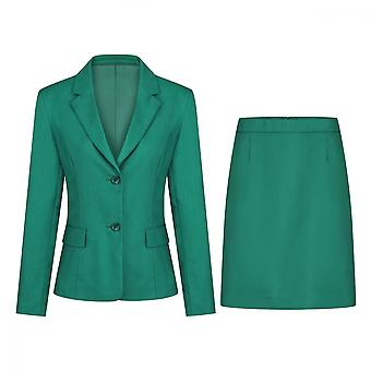 Mile Women's Solid Color Suit Two-piece Suit Casual Slim Suit Soft And Skin-friendly (top & Skirt) 5 Colors