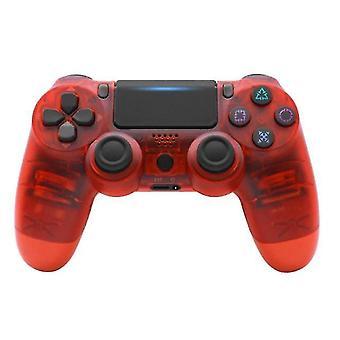 اللاسلكية جويستيك ألعاب وحدة تحكم سوني PS4 وحدة تحكم بلوتوث الاهتزاز Gamepad(أحمر)