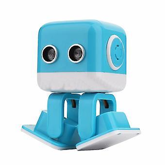 RC Robotti lelu älykäs tanssikone LED Face Desk Lapset Lahjaele Interative|smart robotti (sininen)