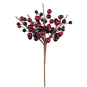 22cm Classic Berry Cluster - Cranberry