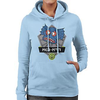 Universums mästare Mer Man Karaktär Head Kvinnors Hooded Sweatshirt