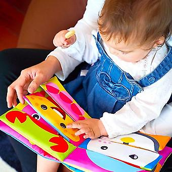 0-24 Months Baby Soft Book Educational Toys Cognitive Color Objects Early Education-a