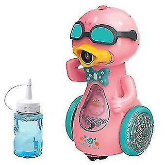 Электрическая машина Duck Bubble с музыкальным освещением £? Автоматический пузырьковый воздуходувка для детей