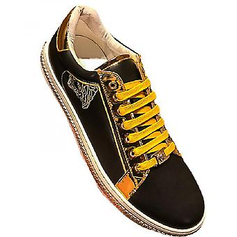 The New Embroidered Small White Shoes Men's Leather Fashion Hundred Trend Casual Korean Plate Shoes