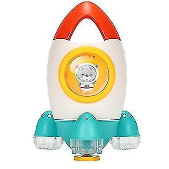 Детский душ Ванна Вода Toy Ракета Распыление Воды Toy Вращающийся Вода Спрей Пляжная Toy (Оранжевый)