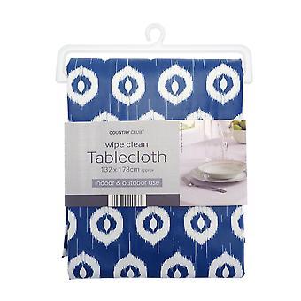 Country Club PVC Tablecloth, Ikat Blue