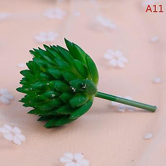1Pcs mini artificial pineapple succulent air grass plants fake plastic flowers home green wall decoration