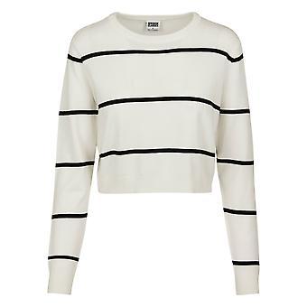 Urban Classics Women's Sweatshirt Short Striped