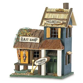 Songbird Valley Bass Lake Lodge & Bait Shop Birdhouse, Pack of 1