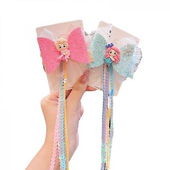 Super Fairy Lace Bow Ribbon Hairpin 2-piece Set