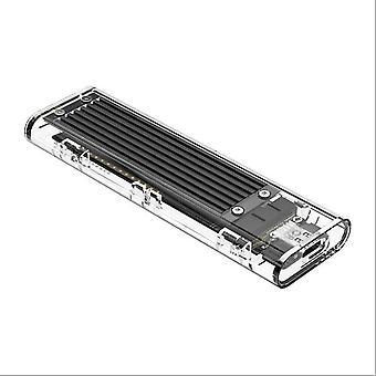 M.2 SSD Case for NVME PCIE NGFF SATA M/B Key SSD Disk NVME SSD Enclosure M.2 to USB C Transparent