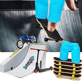 Mini Finger Skateboarding Fingerboard Bicycle Skate Boards Rampes Set Skatepark Scooter Toy Cadeau