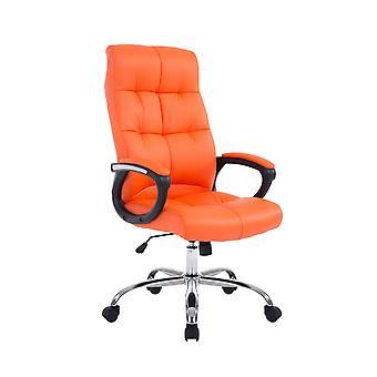 Chaise de bureau - Chaise de bureau - Bureau à domicile - Moderne - Orange - Métal - 63 cm x 71 cm x 116 cm