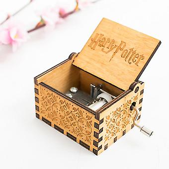 Music Box Harry Potter Hand Cranked Wooden Music Box Christmas Gift
