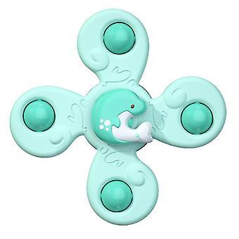 Homemiyn Kinder Saugnapf Rotierendes Spielzeug Gyro Spielzeug (Spielzeug) (Grün)