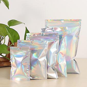 20 stycke uppsättning vackra iriserande luktsäker zip lock väska påsar (9x12cm)