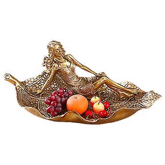 צלחת פירות שרף קישוט שולחן מלאכת יד קרמי