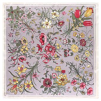 Cachecol de cabelo de seda de cetim de luxo, lenço bandana, lenço para mulheres