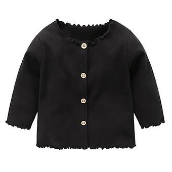 Jaqueta de cardigan malhado de roupas de bebê