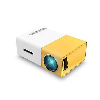 MiniProiector, Proiector portabil pentru desene animate, Cadou pentru copii, Proiector film în aer liber,1080p ,cu interfețe HDMI USB Av și telecomandă