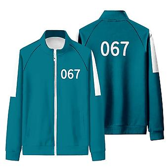 Iwa53 Squid Game Matching Tracksuit With Stand-up Collar And Zip-up Sweatshirt