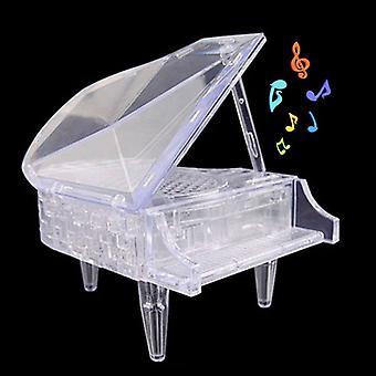 光/音楽ホームデコレーション大人の子供の知性学習おもちゃと3Dクリスタルピアノパズル