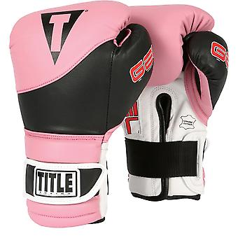 Title Boxing Gel Suspense Training Gloves - Pink/Black