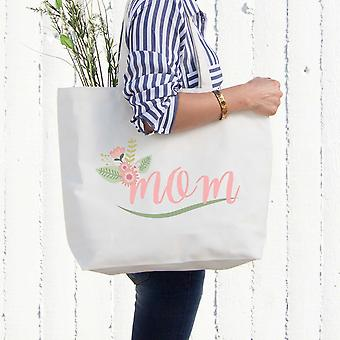 Mom Canvas Bag With Flower Grocery Diaper Bags Mothers Day Gifts For Mother